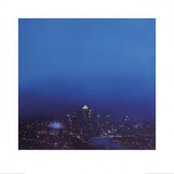 Blue Canary Wharf - Study Poster by Jenny Pockley