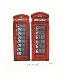 Telephone Boxes Print by Barry Goodman