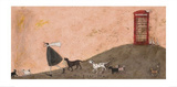 The Pizza Run Prints by Sam Toft