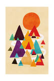 Lets Visit the Mountains Giclee Print by Budi Kwan