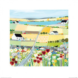 Bright Meadow Prints by Janet Bell