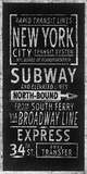 Rapid Transport Lines New York Posters by Barry Goodman