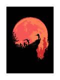 Last Stand Zombie Giclee Print by Budi Kwan