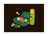 Mario Lunch Giclee Print by Budi Kwan
