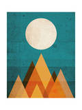 Moon on Sahara Giclee Print by Budi Kwan