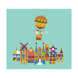 Journey around the World Giclee Print by Budi Kwan