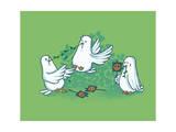 Peace Irony Giclee Print by Budi Kwan