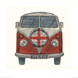 Red Camper Prints by Barry Goodman