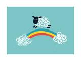 One Happy Cloud Giclee Print by Budi Kwan