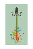 Kraken Giclee Print by Budi Kwan