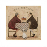 Tea for Three 2 Posters by Sam Toft