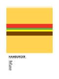 Pantone Food Cheeseburger Reproduction procédé giclée par Budi Kwan