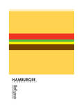 Pantone Food Cheeseburger Giclee Print by Budi Kwan