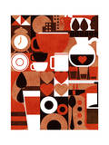 Coffee Story Giclee Print by Budi Kwan