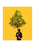 Ethical Gentleman Yellow Giclée-Druck von Budi Kwan