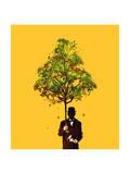 Ethical Gentleman Yellow Giclee Print by Budi Kwan