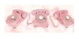 Pink Telephones Prints by James Paterson