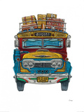 Columbian Bus Print by Barry Goodman