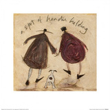 A Spot of Handie Holding Poster by Sam Toft
