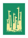 Giraffe Optical Illusion Giclee Print by Budi Kwan
