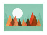 From the Edge of the Mountains Giclee Print by Budi Kwan