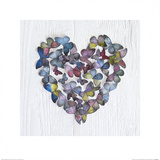 Butterfly Heart Prints by Howard Shooter