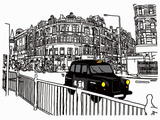 Taxi Prints by Frank Kiely