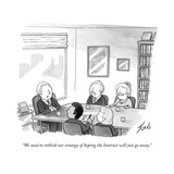 """We need to rethink our strategy of hoping the Internet will just go away. - New Yorker Cartoon Premium Giclee Print by Tom Toro"