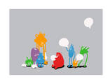 Speech Bubble Giclee Print by Budi Kwan