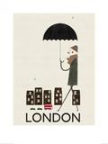 Londres Affiches par Blanca Gomez