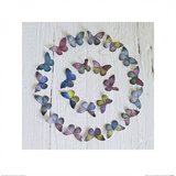 Butterfly Circle Prints by Howard Shooter