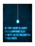 Light a Lamp Giclee Print by Budi Kwan