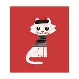 Paris Cat Giclee Print by Budi Kwan