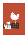 Game on Woodstock Giclee Print by Budi Kwan