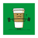 Strong Coffee Giclee Print by Budi Kwan