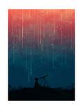 Meteor Rain Giclée-Druck von Budi Kwan