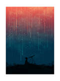 Meteor Rain Giclee Print by Budi Kwan
