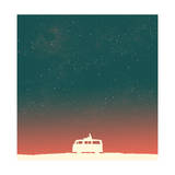 Quiet Night Starry Sky Giclee Print by Budi Kwan