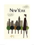 New York Poster af Blanca Gomez