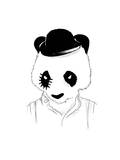 Clockwork Panda Giclee Print by Budi Kwan