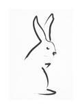 Zen Snow Bunny Giclee Print by Budi Kwan