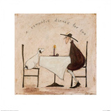 A Romantic Dinner For Two Prints by Sam Toft