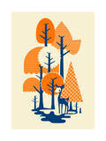 Deer in the Forest Giclee Print by Budi Kwan