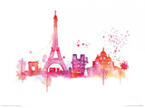 Paris Skyline Prints by Summer Thornton