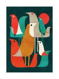 Flock of Bird Giclée-Druck von Budi Kwan