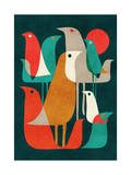 Flock of Bird Giclee Print by Budi Kwan