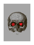 Peace, Love, Death Giclee Print by Budi Kwan