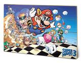 Super Mario Bros 3 Wood Sign Targa in legno