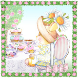 Daisy Breeze Tea Bunny Garden Party Kunstdruck