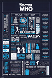 Doctor Who - Infographic Pósters